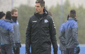 Pellegrino, en un entrenamiento del Alavés.