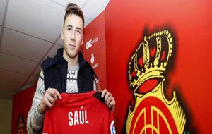Saúl García en su presentación como nuevo jugador del Mallorca