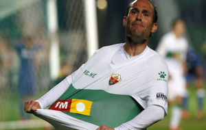 Nino celebra el gol del empate, en el partido ante el Getafe de esta...