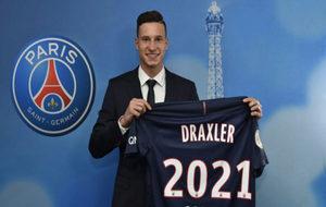 Julian Draxler, en su presentación como nuevo jugador del PSG