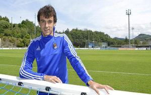 Rubén Pardo, en los campos de entrenamiento de la Real Sociedad