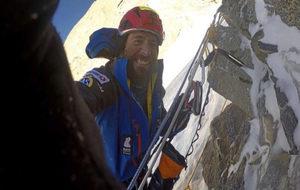 Alex Txikon en el Nanga Parnat.