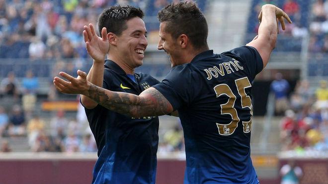 Nasri y Jovetic podrían volver a coincidir en Nervión.