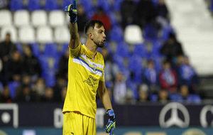 Brignoli durante un partido de Copa frente al Valencia.
