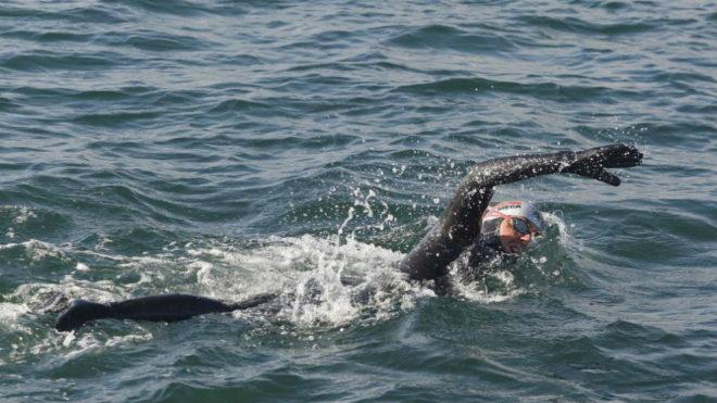 David Meca, durante una imagen de archivo de uno de sus retos.