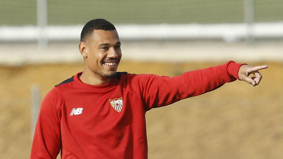 Kolo (25) en un entrenamiento reciente del Sevilla.
