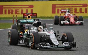 Hamilton, Ricciardo y Raikkonen en el GP de Malasia