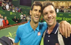 Djokovic y Zeballos se hacen un 'selfie'