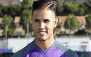 Luismi durante su presntación con el Valladolid.