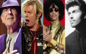 Cohen, Bowie, Prince y George Michael