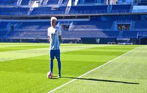 Peñaranda, en su presentación como jugador del Málaga