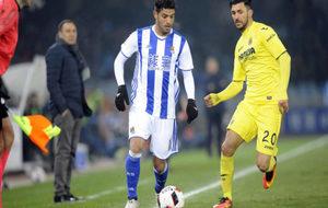 Carlos Vela, durante el duelo ante el Villarreal