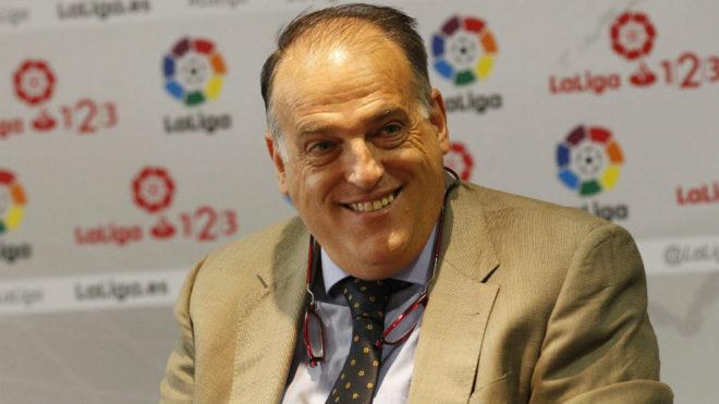 Javier Tebas, que hará la ponencia inicial del Congreso de Alicante,...