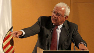 Paco Roig, durante una Junta de accionistas del Valencia en 2012