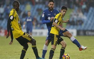 Fran Rodríguez durante el partido contra el Getafe.