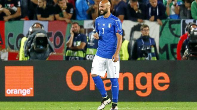 Zaza, tras fallar el penalti contra Alemania en la Eurocopa.