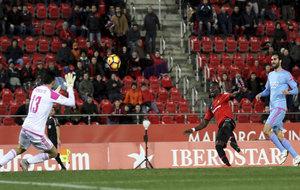 Lago Junior marca el segundo gol del Mallorca