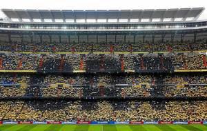Imagen del Santiago Bernabéu, el día que Cristiano ofreció su...