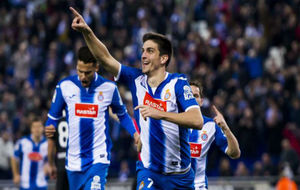 Gerard Moreno celebra un gol en el RCDE Stadium