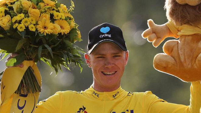 Froome, en el podio del último Tour.