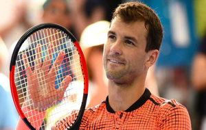 Grigor Dimitrov en uno de los partidos del torneo celebrado en...