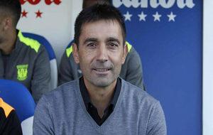 Garitano, en un partido del Leganés.