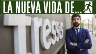 Arizmendi posa para MARCA en la entrada de la compa��a Tressis,...
