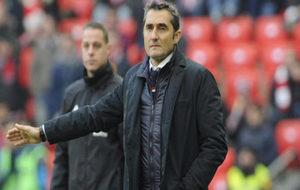 Ernesto Valverde en su partido frente al Alavés