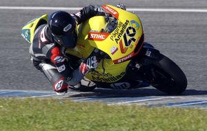 Fabio Quartararo, con su nueva montura de Pons, en los test de Moto2...