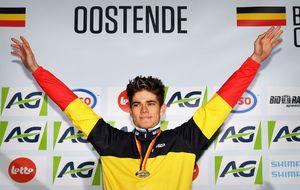 Wout Van Aert, campe�n de B�lgica de ciclocross.