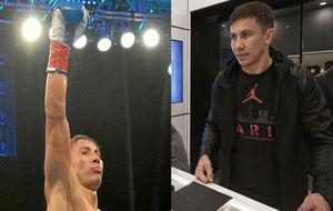 Gennade Golovkin, sobre el ring y en un acto promocional de Jordan...