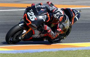 Maverick, en su primera prueba con Yamaha, el pasado 15 de noviembre...