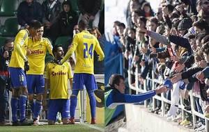 Güiza celebra uno de sus goles en Elche y Zapater regala balones a la...