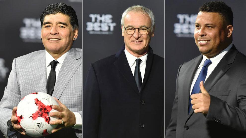 Grandes figuras del fútbol acudieron a los The Best