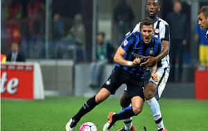 Jovetic, en un partido del Inter.