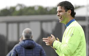 Rafa Márquez, en un entrenamiento.