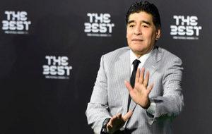 Maradona, en la gala.