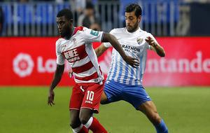 Miguel Torres durante un partido de esta temporada contra el Granada...