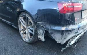Así quedó el Audi RS6 de Valentino