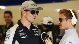 Hulkenberg y Rosberg.