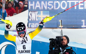 Hansdotter celebra su triunfo