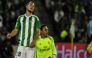 Zozulya, lament�ndose en el partido frente al Real Madrid