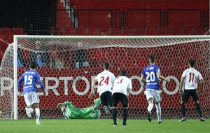 El Sevilla Atlético le hizo cinco goles al Oviedo el pasado domingo.