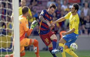 Leo Messi durante un partido contra la UD Las Palmas en el Camp Nou