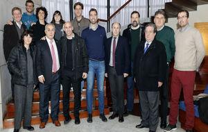 Alejandro Blanco, junto a los representantes de las asociaciones de...