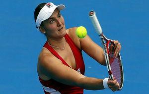 Nadia Petrova durante el torneo de S�dney en 2013.