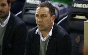 Eusebio, durante el partido ante el Villarreal.