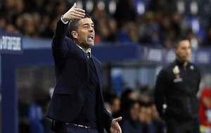 Luis Carrión hace gestos en el partido de la anterior eliminatoria en...