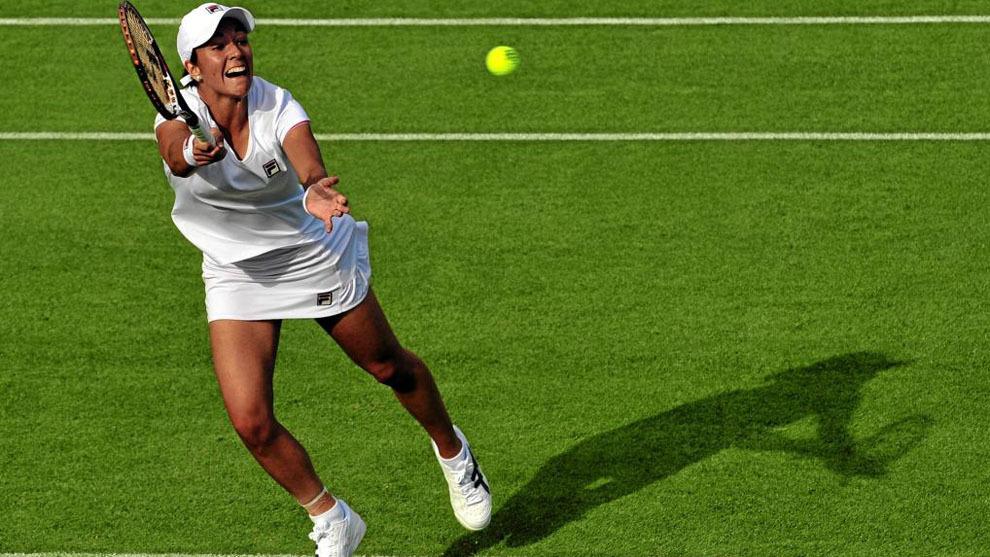 Silvia Soler durante un torneo