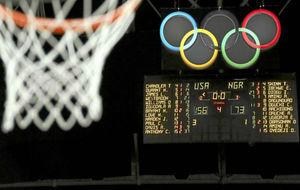 Imagen de los Juegos Olímpicos con los aros.
